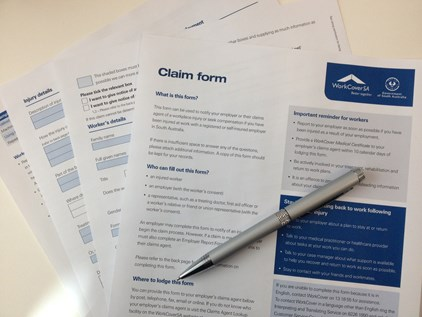 tips for completing workcover claim form