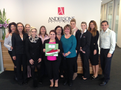 Andersons Solicitors Steptember team members 2015