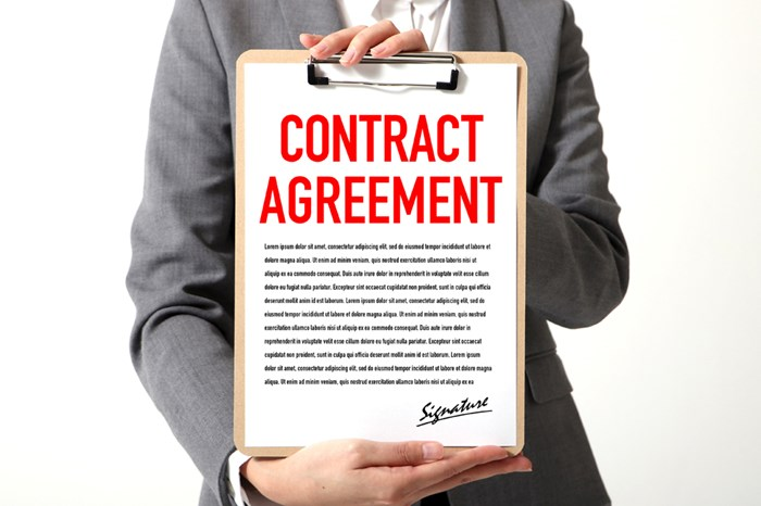 Get your agreements and contracts in writing, not just a handshake