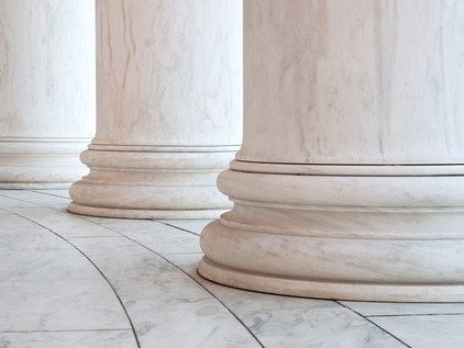 Base of law court columns